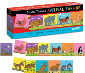 329_animal_parade_7_foot_floor_puzzle